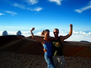 Greg and Bonnie atop Mauna Kea