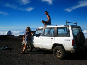 Bonnie and myself on top of Mauna Kea