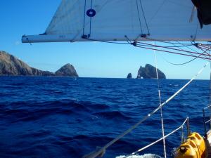 Rounding Cape Brett