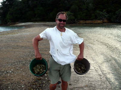 Christian with our bounty of Pipis