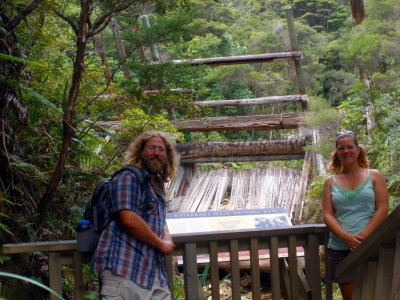 Myself and Tiffany at the lower Kauri dam