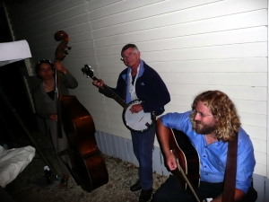 Pickin a tune or two with the Tuesday night crew at the reception