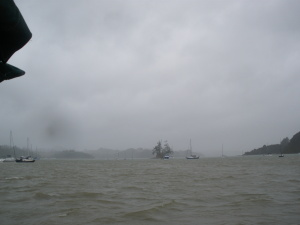 Rainy opua anchorage