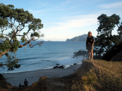 Christian's friend Michelle drove us out to a great secluded beach near Kauri Mountain