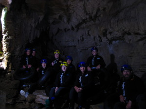 Beginning of the trip through the caves with the Blackwater Rafting Company