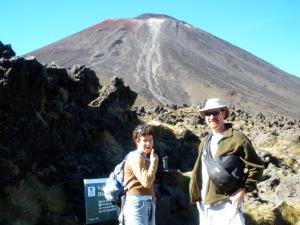 Morgan and John fixin to summit Mt Ngauruhoe