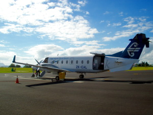 Getting off the little plane that took me into Whangarei