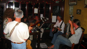 Pickin with a celtic session that Tate and I stumbled on at MacMorrisey's Pub