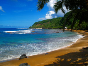 One of the many beautiful beaches around American Samoa