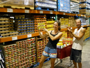 Bonnie and Greg going nuts in the Spam isle at CostULess