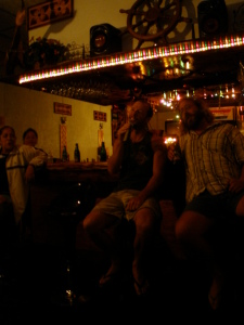 Greg and I singing some Neil Diamond at the Karaoke bar