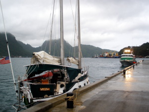 Willow moored up in Pago Pago