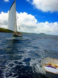 Bodhran sailing through the Vava'u Group
