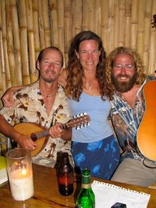 Greg, Bonnie and I at the Bounty Bar in Nieafu Tonga