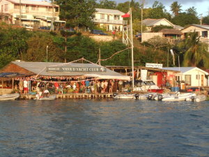 The Vava'u Yacht Club after the friday night race