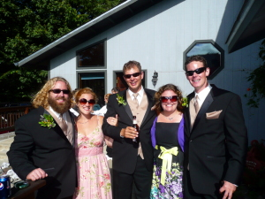 Myself, Tiffany, Johnny, Alexis and Hoss before the wedding