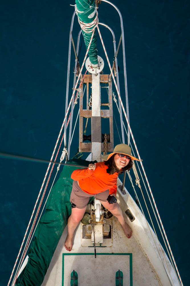 Doris on the bow