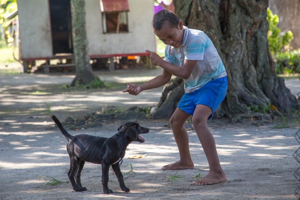 I loved this pic of the kid playing with this dog