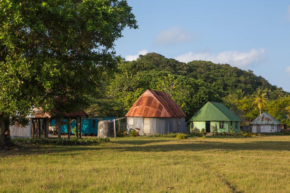 Typical houses on Fulanga