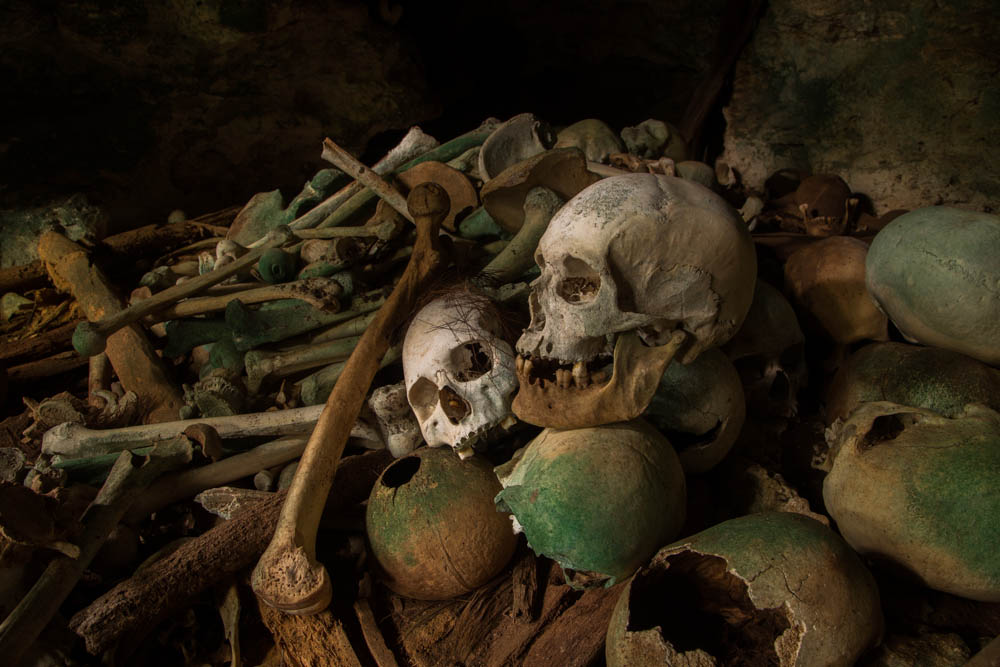 Skulls in the cave