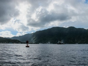 Tuna boats in Pago Pago Harbor.